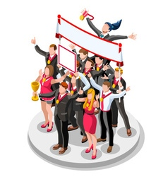 Ambitious business change 35 job ambitions concept vector