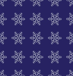 Christmas seamless pattern from snowflakes Blue vector image