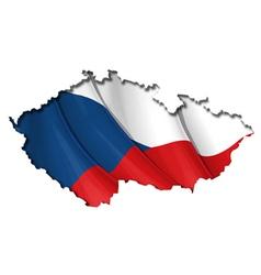 Czech Map Flag vector image vector image
