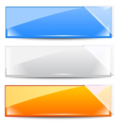 frames with white glass ribbons vector image vector image