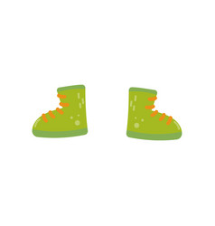 green boots shoes for boys on vector image