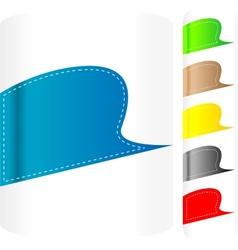 multicolored stickers set label vector image vector image