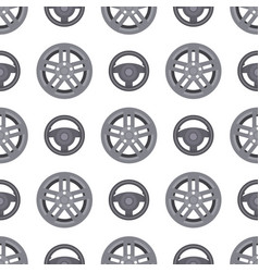 steering wheels hearts seamless pattern background vector image
