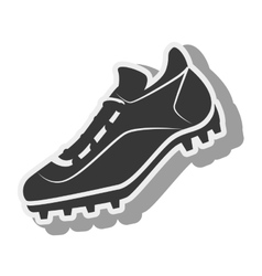 tennis silhouette shoes baseball isolated vector image