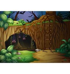 A cave and bats vector image