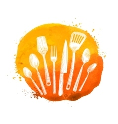 Cafe restaurant logo design template Menu vector image