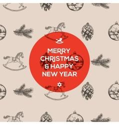 Christmas seamless hand-drawn pattern vector
