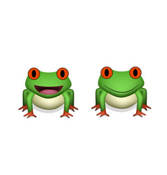 front view 3d red eye frog in vector image