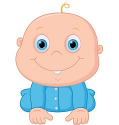 happy baby boy cartoon vector image vector image