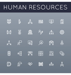 HR Line Icons vector image