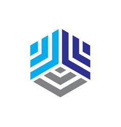 Abstract hexagon business logo vector