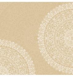 doilies on beige background vector image vector image