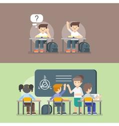 kids at school Back to school concept vector image vector image