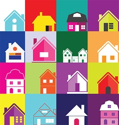 0508 House icons vector image