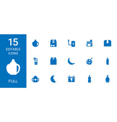 15 full icons vector