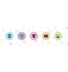 5 website icons vector