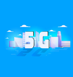 5g online communication network wireless systems vector