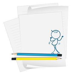A paper with a drawing vector