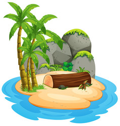 an isolated island landscape vector image