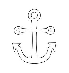 anchor marine symbol isolated icon vector image
