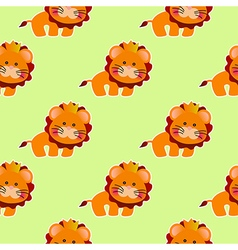 Baby pattern with a cute little lion vector