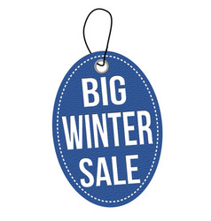 big winter sale label or price tag vector image