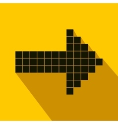 Black arrow from cubes flat icon vector