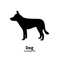 Black dog silhouette vector