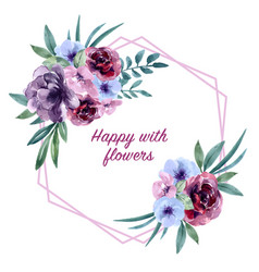 Bouquet card design for special occasion exotic vector
