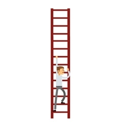 businessman climbing the ladder icon vector image