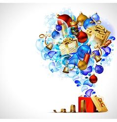 Christmas opening gift vector image