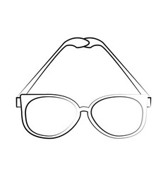classic frame glasses icon image vector image