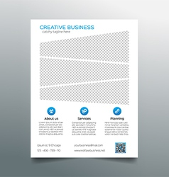 Corporate business flyer template - light design vector image