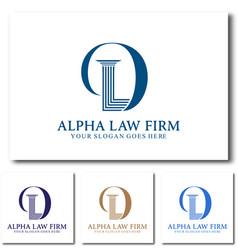 D law or dl law firm logo design vector
