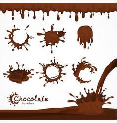 Dark chocolate blots vector