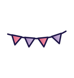 decorative bunting flags celebration party icon vector image