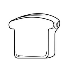 delicious slice bread isolated icon vector image