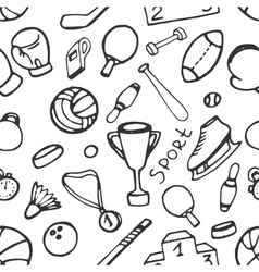 Doodle pattern of sport vector