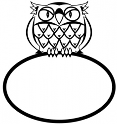 Eagle owl vector