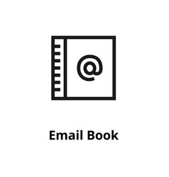 email book line icon vector image