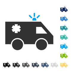 Emergency car icon vector