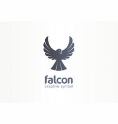 falcon phoenix crow silhouette creative symbol vector image