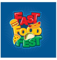 Fast food festival logo design vector