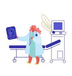 fertility childbirth female health concept vector image