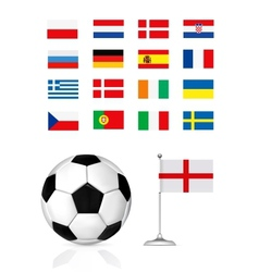 football ball and flag vector image