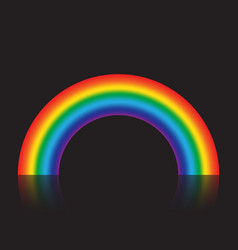 gradient rainbow isolated on black background vector image