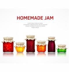 Homemade jam poster vector