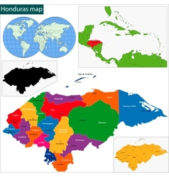 Honduras map vector image