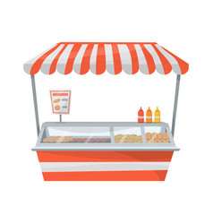 Hot dog street stand vector