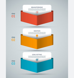 infographic template with 3 arrows pointing down vector image